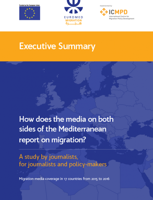 How does the media on both sides of the Mediterranean report on migration?
